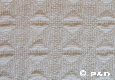 Plaid Twist ivoor detail