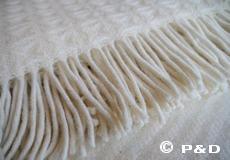 Plaid Twist ivoor franjes