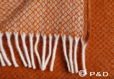 Plaid Vega oranje detail
