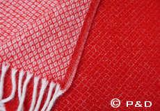 Plaid Vega rood detail