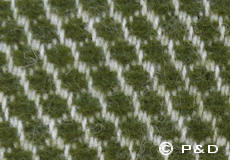 Plaid Velvet avocado detail
