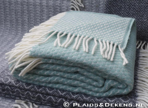 Plaid Velvet duck egg blue
