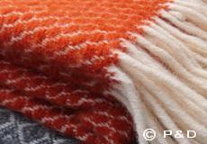 Plaid Velvet oranje franjes