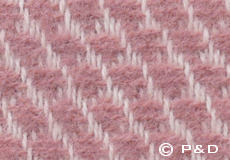 Plaid Velvet roze detail