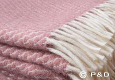Plaid Velvet roze franjes