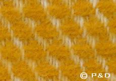 Plaid Velvet saffraan geel dessin