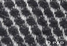 Plaid Velvet zwart detail