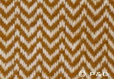 Kussenhoes Chevron caramel dessin