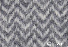 Kussenhoes Chevron grijs dessin