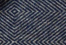 Kussenhoes Diamant blue 40x60 detail