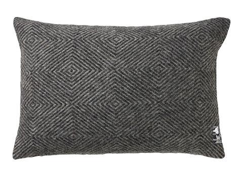 Kussenhoes Diamant zwart 40x60