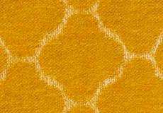 Kussenhoes Hjordis saffraan dessin