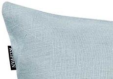 Kussenhoes Linn turquoise detail
