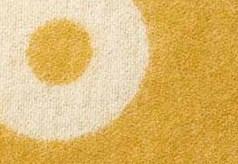Kussenhoes Rings okergoud detail