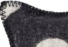 Kussenhoes Rings zwart dessin