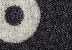 Kussenhoes Rings zwart detail