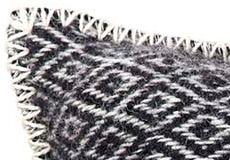 Kussenhoes Stella zwart detail