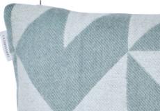 Kussenhoes Twist a Twill ocean grey 40x40 detail